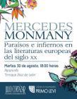 Cartel con texto del evento Paraísos e infiernos en las literaturas europeas del siglo XX