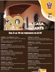 Cartel con programa del 20 Aniversario de Casa del Arte