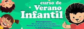 Cartel informativo de los cursos de verano infantil en CUAltos. Del 8 al 24 de julio. Horario: De 9:00 a 13:00 horas