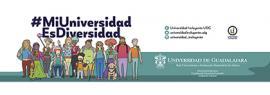 Banner informativo de la Campaña #MiUniversidadEsDiversidad,Campaña de sensibilización por la riqueza de la diversidad para apoyar a los integrantes de la comunidad universitaria en situación de vulnerabilidad