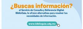 Utiliza Biblioguía, el servicio de consulta y referencia digital del #SiUBiUDG para la #ComunidadUDG