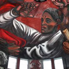 Detalle del Mural del Paraninfo Enrique Díaz de León