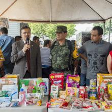 Rector General de la Universidad de Guadalajara (UdeG) participando en el Plan UdeG Emergencia Nacional