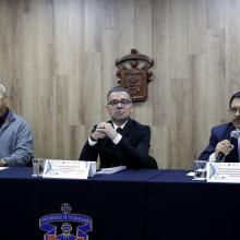 Rueda de prensa para anunciar el Módulo de Salud Mental en el XX Congreso Internacional Avances en Medicina (CIAM), del Hospital Civil de Guadalajara (HCG), a celebrarse del 22 al 24 de febrero de 2018.