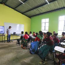 Aula de clases en zona wixárika