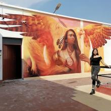 """Crean mural """"Puente vivo"""" en el CUAAD sede Artes"""