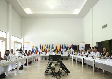 El pleno de la asamblea del CLAD en el auditorio de CUCOSTA UDG