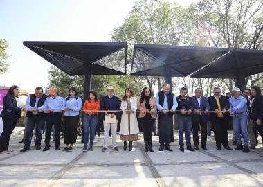 Las obrasfueron inauguradas por el Rector General de la UdeG, doctor Ricardo Villanueva Lomelí y la Presidenta municipal de Tlaquepaque, licenciada María Elena Limón
