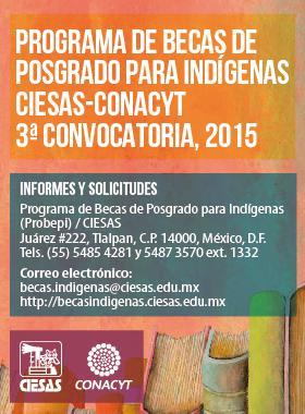 PDF informativo de programa de becas de posgrado para indígenas