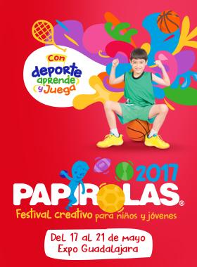 Cartel de Papirolas 2017 del 17 al 21 de mayo, Expo Guadalajara