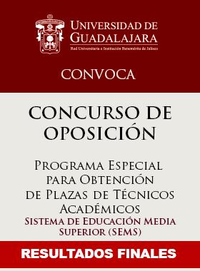 Cartel informativo de los resultados finales del programa especial para obtener plazas de técnico académico del SEMS