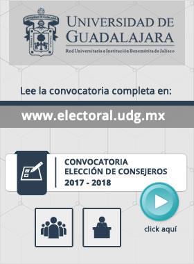 Convocatoria para la elección de Consejeros 2017-2018, en la que se proporciona un enlace para su lectura completa y un botón de continuacion para ir a dicha convocatoria.