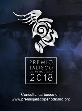 Cartel informativo sobre el Premio Jalisco de Periodismo 2018