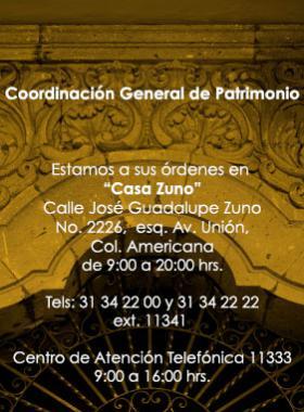 Sitio de la Coordinación General de Patrimonio