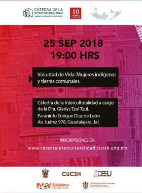 Cartel informativo sobre la Cátedra de la Interculturalidad