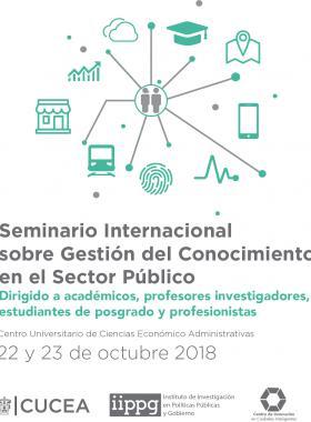 Cartel informativo sobre el Seminario Internacional sobre Gestión del Conocimiento en el Sector Público
