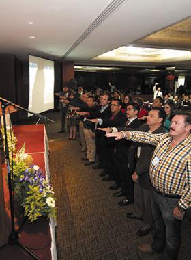 Dr. Miguel Angel Navarro, en acto de toma de protesta al Consejo Técnico de coordinadores de pregrado 2016-2019