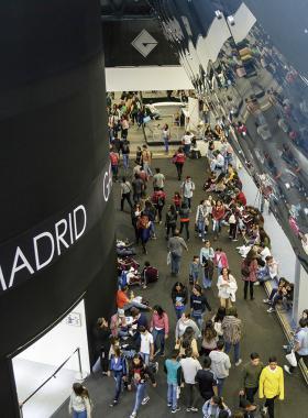 Vista del pabellón de Madrid en la Feria Internacional del Libro