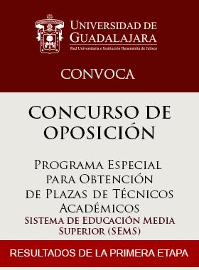Cartel Informativo de los resultados de la primera etapa del Concurso de Oposición: Programa Especial para Obtención de Plazas de Técnicos Académicos (SEMS).