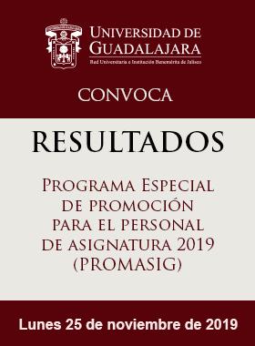 RESULTADOS: Programa Especial de Promoción para el Personal de Asignatura PROMASIG 2019