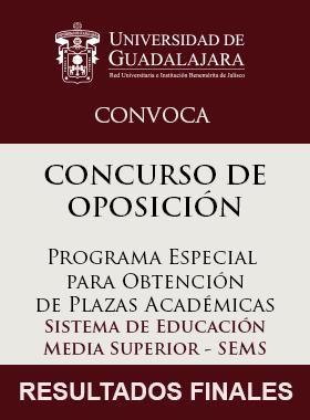 Cartel Informativo: RESULTADOS FINALES: CONCURSO DE PLAZAS ACADÉMICAS SEMS