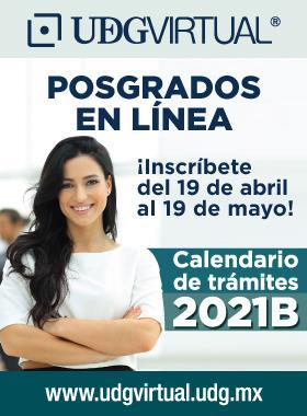 Calendario de Posgrados UDGVirtual 2021-B