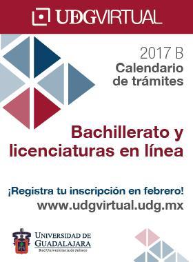Calendario 2017-B de UDGVirtual.