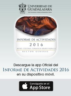 Cartel con información de descarga  la app oficial del Informe de Actividades 2016 para dispositivos móviles