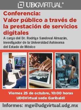 Conferencia: Valor público a través de la prestación de servicios digitales