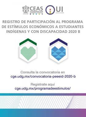 Programa de Estímulos Económicos a Estudiantes Indígenas y Estudiantes con Discapacidad 2020-B