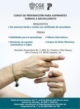 Curso de preparación para aspirantes sordos a bachillerato