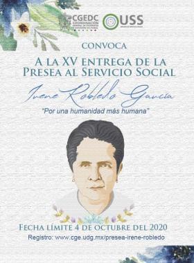 XV Entrega de la Presea al Servicio Social Irene Robledo García