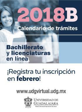 Calendario escolar de UDGVirtual 2018-B