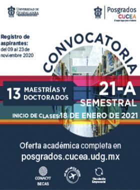 Posgrados CUCEA, convocatoria 21-A