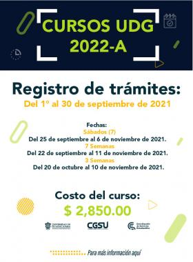 Cursos de preparación para el examen de admisión a la UdeG 2022-A