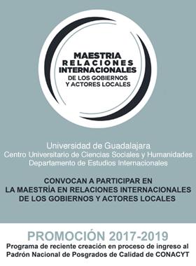 Maestría Relaciones Internacionales de los Gobiernos y Actores Locales