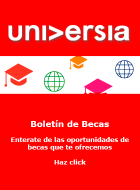 Cartel informativo de becas universia