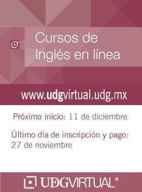 Invitación al Cursos de inglés en línea en UDGVirtual. Fecha límite 11 de diciembre