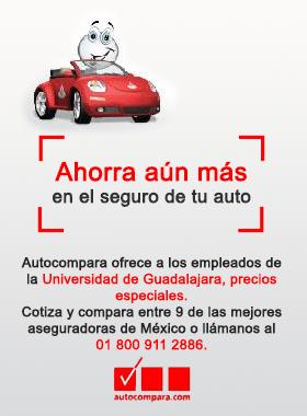 Autocompara ofrece a los empleados de la Universidad de Guadalajara, precios especiales