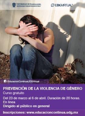 """Curso gratuito: """"Prevención de la violencia de género"""""""