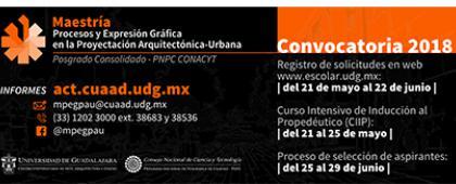 Cartel de Maestría en Procesos y Expresión Gráfica en la Proyectación Arquitectónica-Urbana