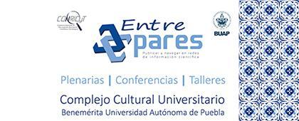 Cartel informativo sobre la convocatoria de un Seminario: Entre pares 2018, los días 10 y 11 de septiembre en el  Complejo Cultural Universitario