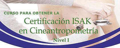 Cartel informativo para promocionar el Curso para obtener la certificación ISAK en cineantropometría (Nivel I), del 27 al 28 de septiembre, CUSur