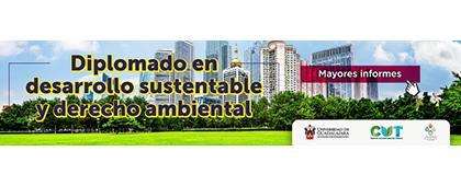 Cartel informativo para promocionar el Diplomado en Desarrollo Sustentable y Derecho Ambiental, a desarrollarse de octubre 2019 a marzo 2020, en CUTonalá