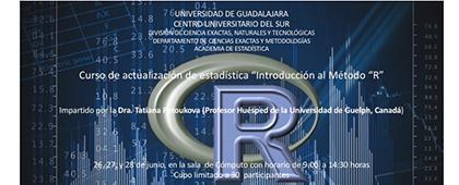 """Cartel informativo sobre el Curso de actualización de estadística """"Introducción al método R"""""""