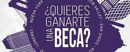 Cartel informativo de las Becas Santander TrepCamp. Fecha límite 26 de abril de 2019, Invitan Santander Universidades