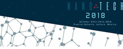 Cartel informativo sobre Nanotech 2018, Del 22 al 26 de octubre, Puerto Vallarta, Jalisco