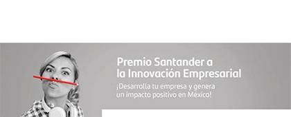 Cartel informativo sobre el Premio Santander a la Innovación Empresarial 2019