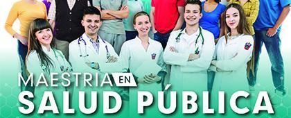 Cartel informativo sobre la Maestría en Salud Pública, periodo de registro: Del 4 de julio al 3 de julio de 2019
