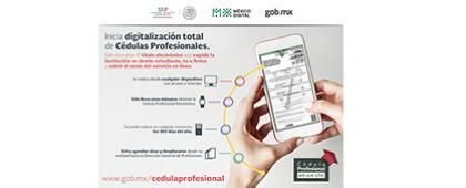 Cartel informativo sobre Ahora Cédulas Profesionales Electrónicas